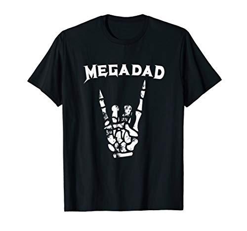 Megadad T-Shirt Rock Heavy Metal Guitar Dad -