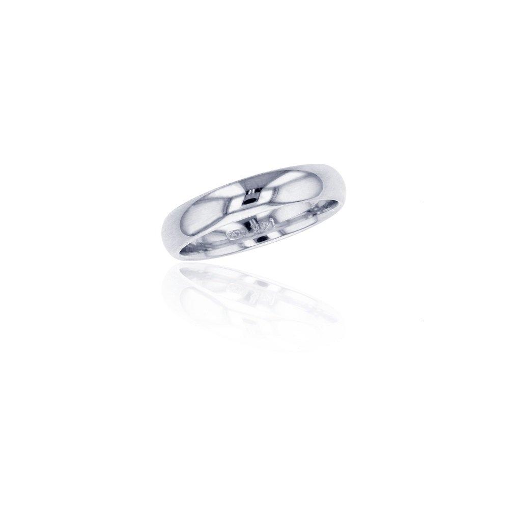 Platinum 950 Rhodium Plated 4MM Comfort Fit Polished Plain Luxury Wedding Band