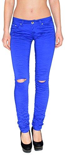 by-tex Jean Femme Skinny Jeans Taille Haute ou Taille Basse Pantalon en Jean Genoux Jeans dchirs Femme surdimensionner Z72 Typ-z87