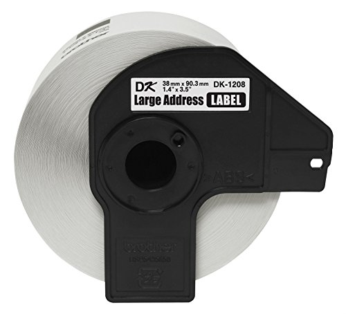 """Brother BROTHER DK1208 1-1/2"""" x 3-1/2"""" Address Paper Labels (400-Pack) White"""