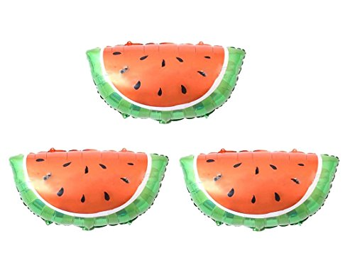 (Yalulu 3Pcs Candy Color Fruit Balloons Birthday Foil Balloon Helium Mylar Balloons for Party Birthday Wedding Supply (Watermelon))