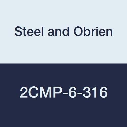 Steel and Obrien 2CMP-6-316 Stainless Steel Clamp, 90 degree Elbow, 6
