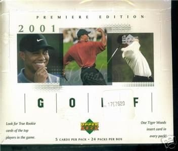 2001 Upper Deck Golf Hobby Box (Deck Upper Golf Card)
