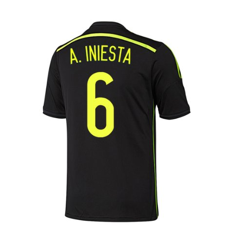 Adidas A. INIESTA #6 Spain Away Jersey World Cup 2014 YOUTH (YS) by adidas