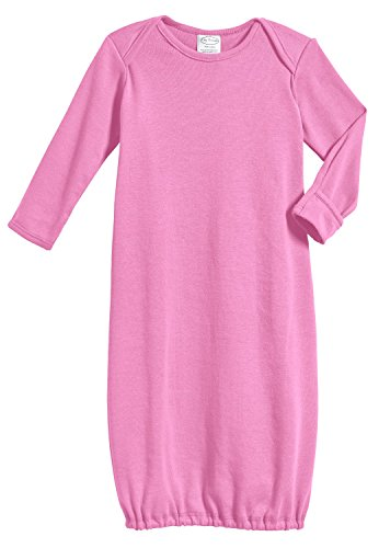 Gown Bubble - City Threads 100% Cotton Baby Sleeping Bag Gown - Bubblegum Pink - 0/3 m