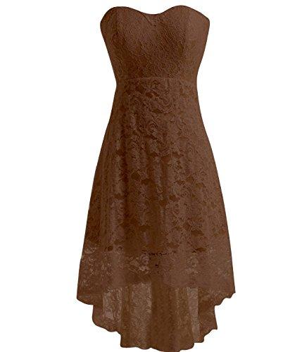 high low brown dress - 5