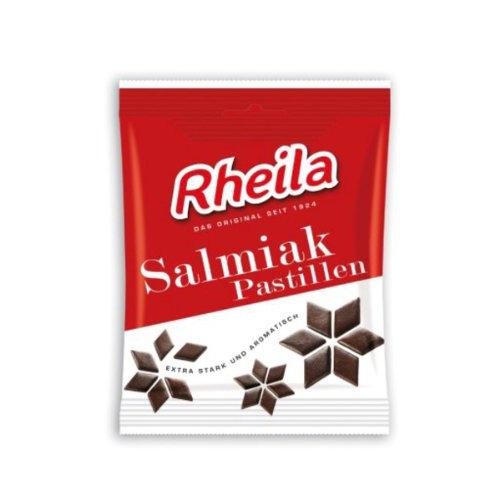 (Rheila Salmiak Pastillen (Salty Licorice Bits), 90 g Bag)