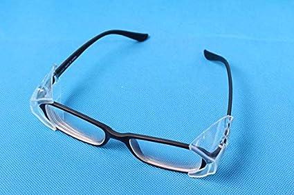 Slip On Clear Side Shield for Safety Glasses Miraclery 6 Pairs Safety Eye Glasses Side Shields M to L Eyeglasses