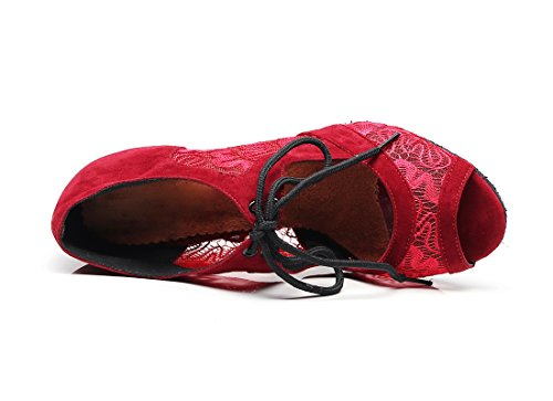 7 Jazz e Heel 35 Donna 5cm Red Moderno Joymod MGM Rosso pw0Baa