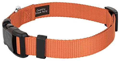 Country Brook Petz 25+ Classic Solid Colors - Deluxe Nylon Dog Collar - Quick Release Buckle, Strong Hardware - Made in The U.S.A.