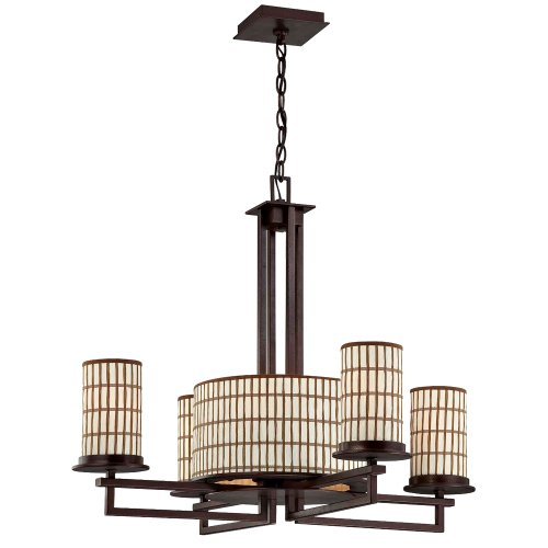 Yosemite Home Decor TW02EPCH-4+4 Sorrel 8-Light Chandelier with Bamboo Parchment (Bamboo 4 Light)