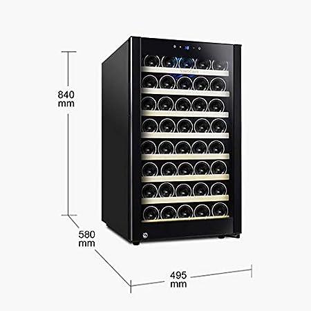 Vinoteca Nevera Para Vinos 52 Botellas, 120L, Panel De Control Con Pantalla Táctil, Pantalla LCD, Temperatura Entre 11 ° C Y 18 ° C, Iluminación LED, Puerta De Vidrio, 8 Estantes Madera De Haya