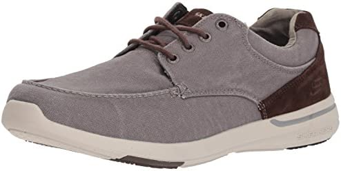 Skechers Mens 65494 Relaxed Fit elent arven Brown Size: 7