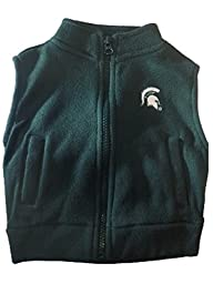 Michigan State Spartans NCAA Infant Toddler Fleece Zippered Vest (2 Toddler)