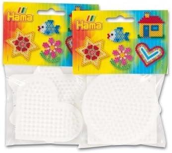 Hama Beads Pegboard Bag Small Star//Heart