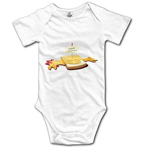Newborn Rubber Chicken Melt Baby Onesie Boys Romper White 12 (Rubber Chicken Jokes)