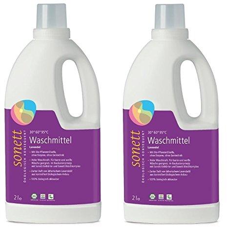 Soneto lavandería Lavanda 30 de 95 °C, 2 x 2L: Amazon.es ...
