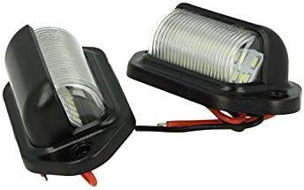 Kit Luces matrícula LED universal 24V 2W para luces gálibo StickandShine Cúpula Campana del camión autobús barco homologado CE E8