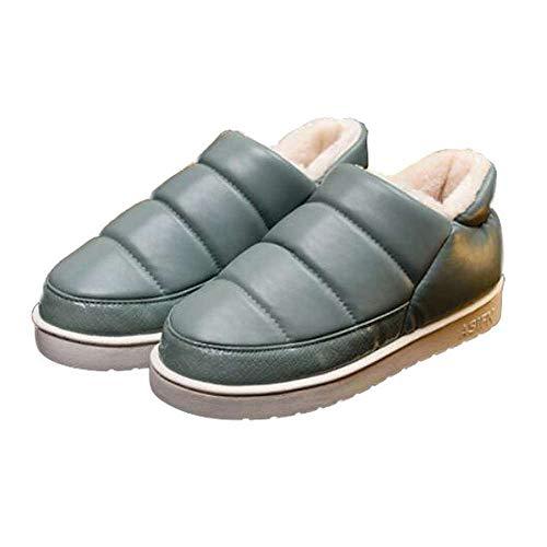 Women Booties Slipper Indoor Outdoor Winter Flats Waterproof Ankle Boots Moccasin ()
