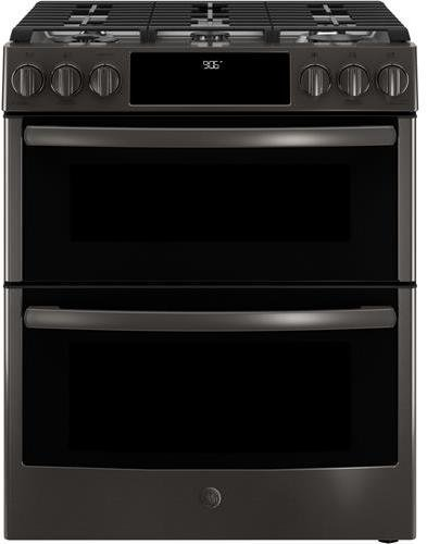 GE Profile PGS960BELTS 30 Inch Slide-in Gas Range with Sealed Burner Cooktop in Black Stainless Steel (Double Stainless Range Gas Steel)