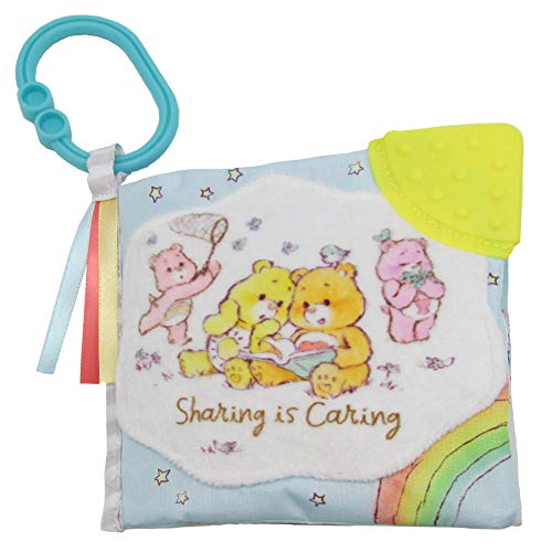 Care Bears Soft Book for Babies - Teether Toy with Clip