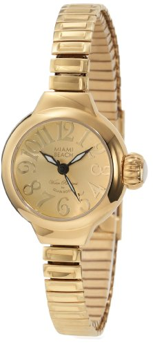 Glam Rock Women's MBD27155 Miami Beach Art Deco Gold Tone Dial Gold Ion-Plated Stainless Steel Watch