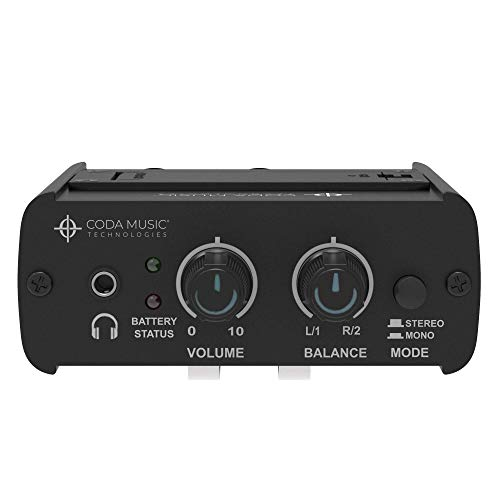 Wired In Ear Monitor System/IEM Personal Monitoring Headphone Amplifier with Mono & Stereo Panning, IEM-STEREO by Coda Music Technologies ()