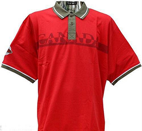 Ahorn Poloshirt Übergröße rot xxl 3xl 4xl 5xl 6xl