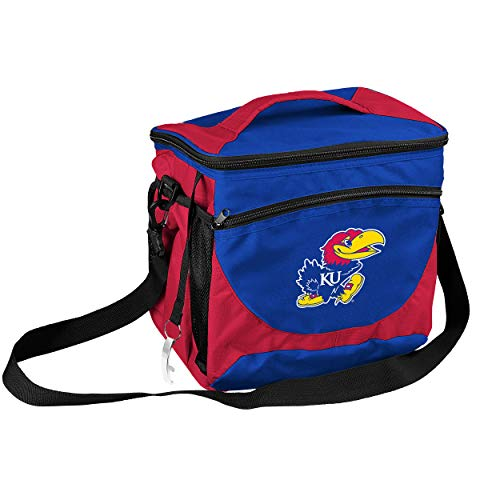 (NCAA Kansas Jayhawks 24-Can Cooler with Bottle Opener and Front Dry Storage)