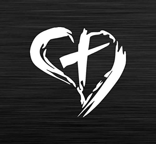 Jesus in Heart Decal Vinyl Decal for laptop windows wall car boat