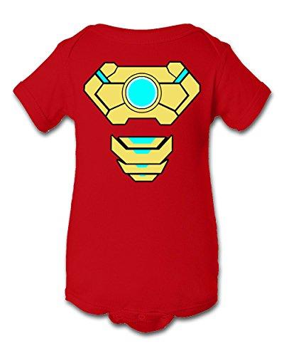A Tee Tee Monster Baby Ironman 2 Inspired Bodysuit Onesie (12 Month, Red) (Iron Man Halloween Suit)