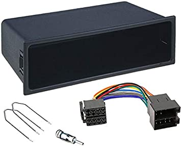Sound Way 1 Din Autoradio Radioblende Radiorahmen Iso Verbindungskabel Antennenadapter Schlüssel Kompatibel Mit Peugeot 207 308 Citroen C2 C3 Fiat Scudo Auto