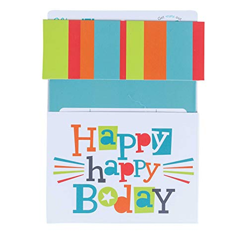 Wrap IT Slide Up Birthday Gift Card Holder 4 x 4.25 Inches, 3-Pack