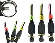"3pcs 0.029"" Replacement Sight Pins Fiber Optics Compound Bow 3/16"" Slo"