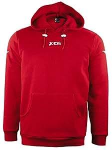 Joma Atenas - Sudadera con capucha unisex, color rojo, talla S