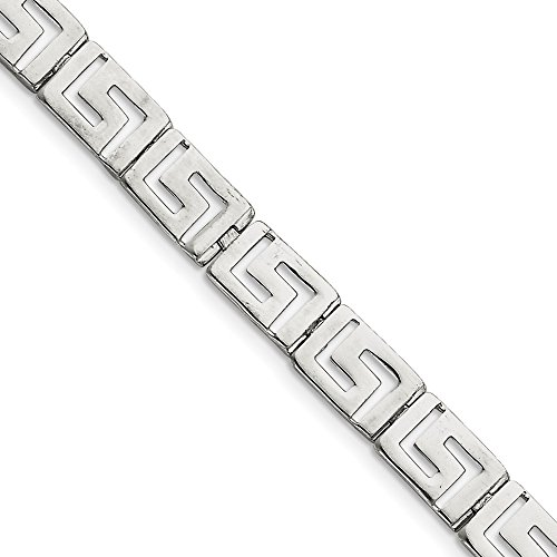 925 Sterling Silver Greek Key - 925 Sterling Silver Greek Key Bracelet 7.5 Inch Fancy Fine Jewelry Gifts For Women For Her