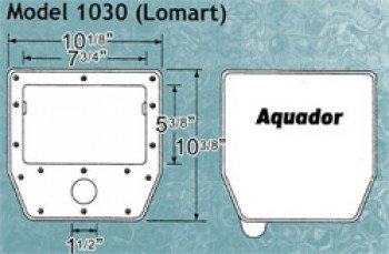 Aquador Skimmer Closure with Lid for Lomart Above Ground Pools