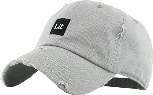 KBSV-071 LGY Lit Patch Vintage Distressed Dad Hat Baseball Cap Adjustable f4037a4f0030