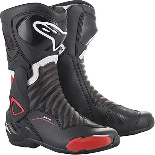 (Alpinestars SMX-6 V2 Men's Street Motorcycle Boots - Black/Red / 45)
