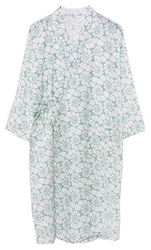 ガジュマル州落ちた[スゴフィ]SGFY レディース パジャマ 浴衣 前開き 婦人用 寝巻き 旅館 和ざらし ガーゼ 女性 二重袷和 ルームウェア サザエ柄 総柄 2色