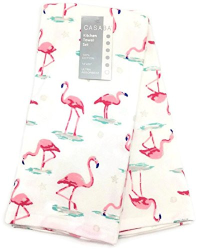 Pink Flamingo Accessories (Casaba Pink Flamingo Kitchen Towel Set)