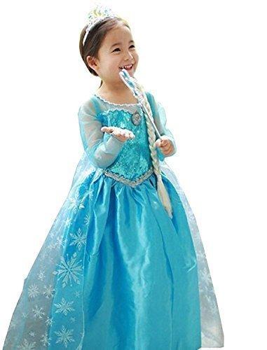 UUstar® Prinzessin Kostüm Karneval Verkleidung Party Cosplay (110, Elsa)