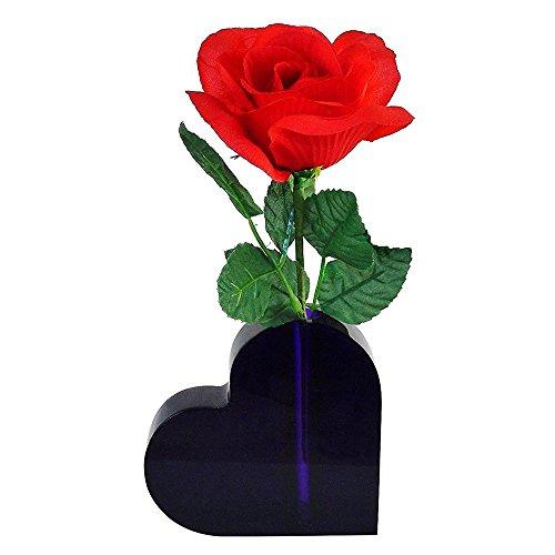 Tom David Lewis Lucite Heart Shaped Bud Vase - for Desktop, Shelf, Table - Purple, Valentine Gift, Love Present, Small Heart Gift.