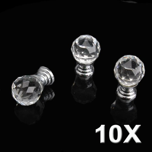 Jewel Cabinet - Dealglad 10pcs 20mm Round Handle Cabinet Cupboard Crystal Glass Drawer Door Knobs