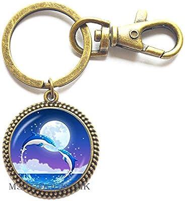 Amazon.com: Llavero de delfín para madre y bebé, regalo para ...