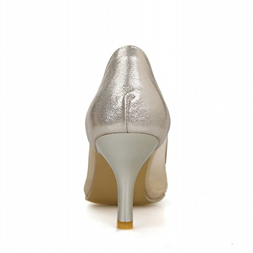 Carol Scarpe Moda Donna Voile Maglia A Punta Aguzza Grazia Charms Tacco A Spillo Alto Pompe Scarpe Oro