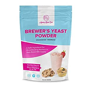 Brewers Yeast Powder for Lactation - Mommy Knows Best Brewer's Yeast for Breastfeeding Mothers - Mild Nutty Flavored Unsweetened and Debittered - Helps Boost Breast Milk Supply …
