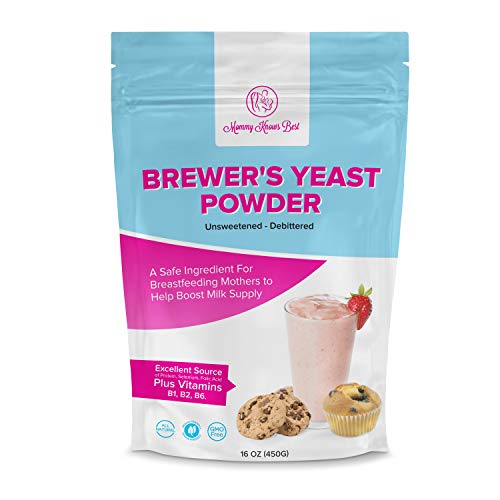 Cheap Brewers Yeast Powder for Lactation – Mommy Knows Best Brewer's Yeast for Breastfeeding Mothers – Mild Nutty Flavored Unsweetened and Debittered – Helps Boost Breast Milk Supply …