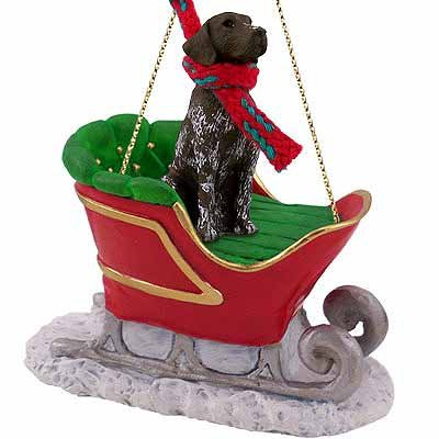 (German Shorthaired Pointer Sleigh Ride Christmas Ornament - DELIGHTFUL!)