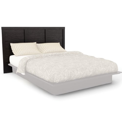 Sonax H-102-LPB Plateau Queen/Double Platform Headboard in Ravenwood Black (Plateau Bed Platform)